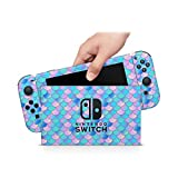 ZOOMHITSKINS Mermaid Scales Gloss Pale Color Pink Baby Blue Pastel Aqua High Quality 3M Vinyl Decal Sticker Wrap, Bubble-free Install, Goo-free Removal, Nintendo Switch Compatible, Made in the USA