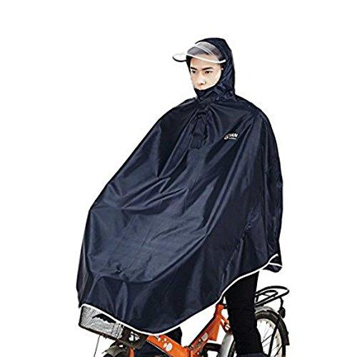 sorliva Regenponcho für Camping Fahrrad Regenmantel Regenschutz mit Kapuze, Poncho, Schwarz