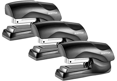 Bostitch Office Heavy Duty 40 Sheet Stapler, Small Stapler Size, Fits into The Palm of Your Hand; 3-Pack (B175-BLK-3PK), Black 3-Pack - 1