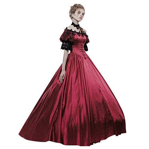 Buy Kiminana Medieval Retro Gothic Court Dress Mosaic Fashion Women Vintage Gown Cake Skirt Lace Cla...