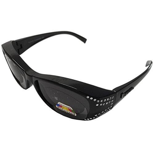 Figuretta Sonnenbrille Überbrille in schwarz mit Strass Opt. für Damen und Kinder