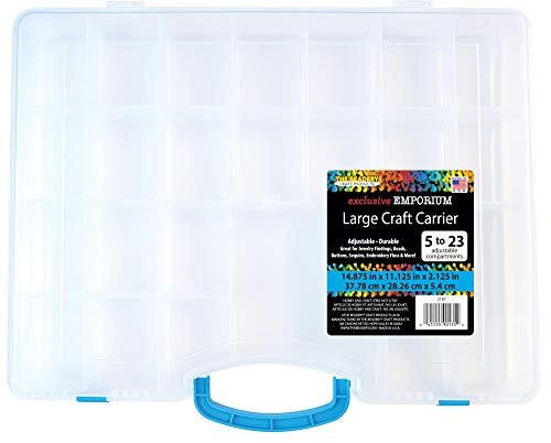 The Beadery Large Craft Carrier Storage Container, clear