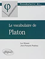 Le vocabulaire de Platon de Luc Brisson