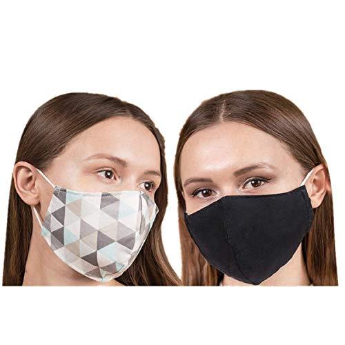 Dwevkeful Erwachsene Mundschutz Multifunktionstuch Gesichtsschutz Waschbar Staubdicht Atmungsaktiv Face Shield Beidseitig Erhältlich (mehrfarbig)