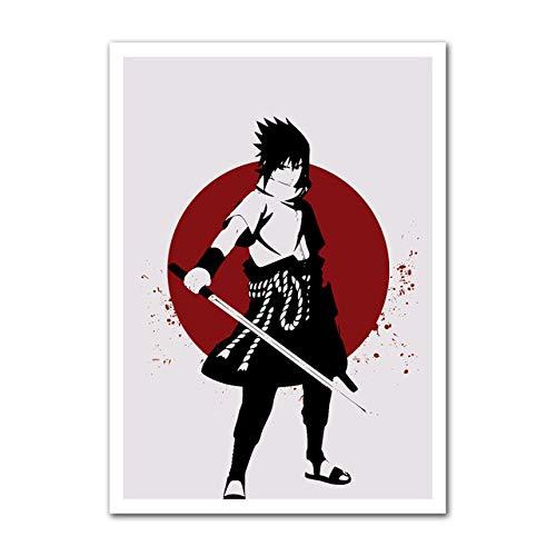 mmzki Leinwand Gedruckt Poster Home Dekorative Nordischen Stil Hd Anime Naruto Kakashi Gemälde Wandkunstwerk Bilder Wohnzimmer Modulare