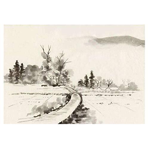 Kunst handgemalte Tinte Freihand abstrakte Tapete chinesische Stil Tinte Malerei