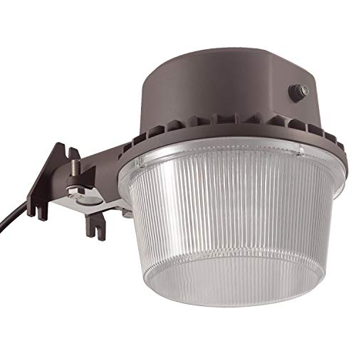 TORCHSTAR Dusk-to-Dawn LED Outdoor Barn Light (Photocell Included), 35W (250W Equiv.), 5000K Daylight Floodlight, DLC & ETL-Listed Yard Light for Area Lighting, 5-Year Warranty, Bronze