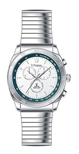 Lifemax Chronograph Style Atomic Talking Watch with Steel Bracelet