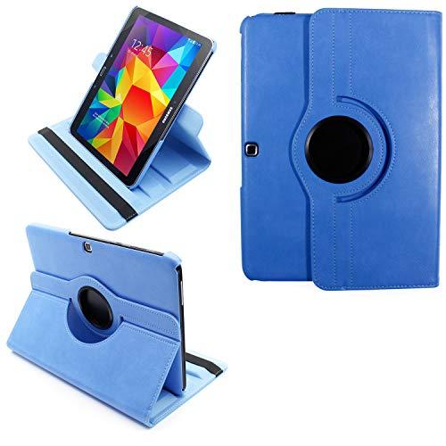 COOVY® 2.0 Cover für Samsung Galaxy TAB 4 10.1 SM-T530 SM-T531 SM-T535 Rotation 360° Smart Hülle Tasche Etui Case Schutz Ständer Auto Sleep/Wake up | hellblau