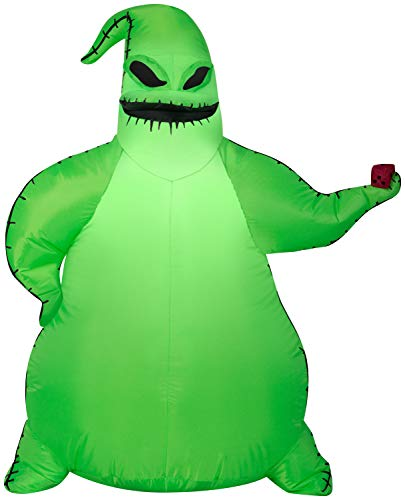 Gemmy 3.5ft Airblown Inflatable Green Oogie Boogie Disney
