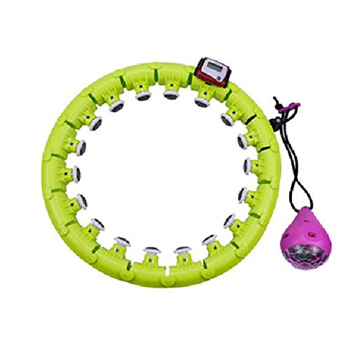 Hula Hoop Inteligente No Caerá Es Lo Mismo Que El Abdomen Hermosa Cintura Adelgazante Equipo De Gimnasia Hula Hoop Cintura Delgada para Adultos,Green-20 Knots