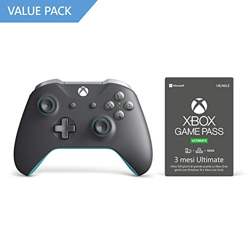 Microsoft Xbox One Controller Wireless Special Edition Grigio-Azzurro - Special Limited + Xbox Game Pass 3 Mesi Ultimate