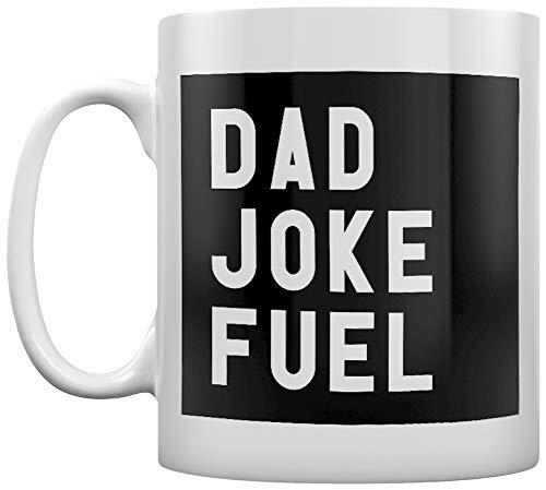 Grindstore Dad Joke Fuel - Taza de café, color blanco