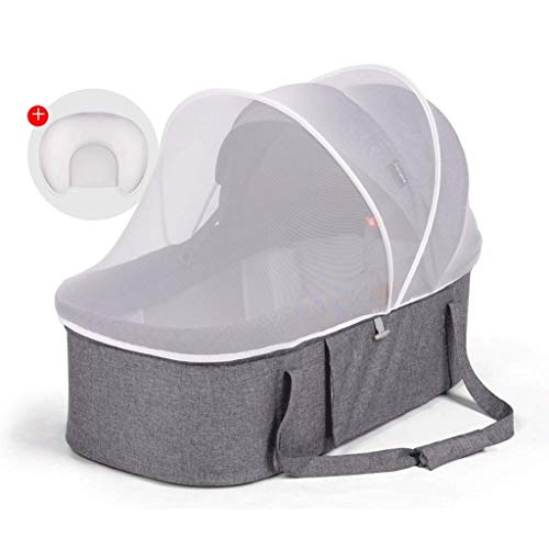 Fantastic Prices! Tyui Bedside Cot, Travel Cot from Birth with Lowerable Side Part, Portable Baby Ba...