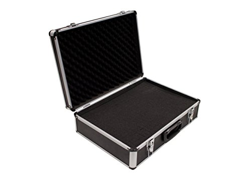 PeakTech 7310 – Flight Case with padded foam, Lockable Storage Toolbox, Portable Aluminium Box with protective cubed Foam, Universal Aluminium case, Protective - Extra Large (460x330x150 mm)