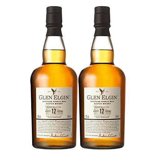 Glen Elgin Speyside 12 Years / Jahre, 2er, Single Pot Malt, Whisky, Scotch, Alkohol, Alokoholgetränk, Flasche, 43%, 700 ml, 550298