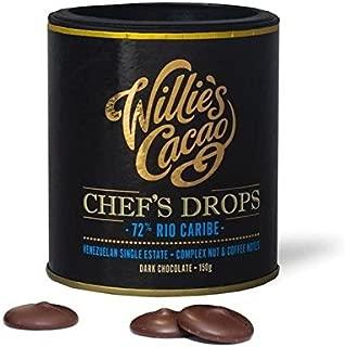 Willie's Cacao Venezolano Gotas De Chocolate Negro 72% 150g (Paquete de 6)