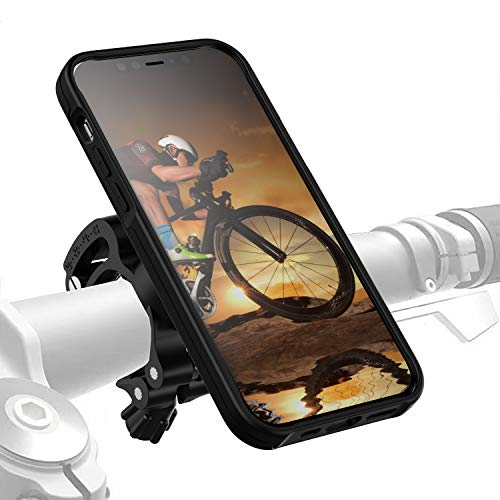 Morpheus M4s iPhone 12/12 Pro Bike-Kit Fahrradhalterung - Handyhalterung Fahrrad iPhone 12/ 12PRO - Halterung & iPhone 12/12 PRO Hülle magnetisch fürs Rad, DropTest, mit Quick Lock, Bike Kit schwarz