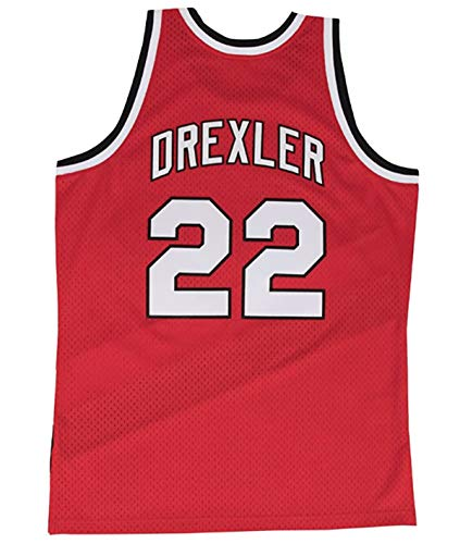Clyde Drexler Portland Trail Blazers Men's Hardwood Classics Jersey (Medium) Red