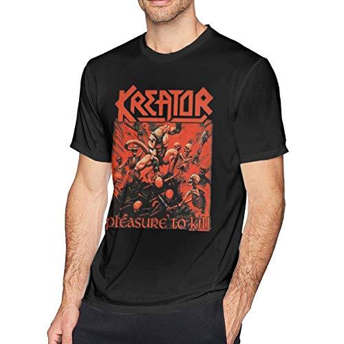 Kreator Texture LaMAGLIERIA Camiseta de Manga Larga Hombre Long Sleeve Metal Rock 100/% algod/òn