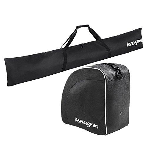 AspenSport Skitaschen Set Rucksack, schwarz, 43 x 27 x 5 cm, 50 Liter