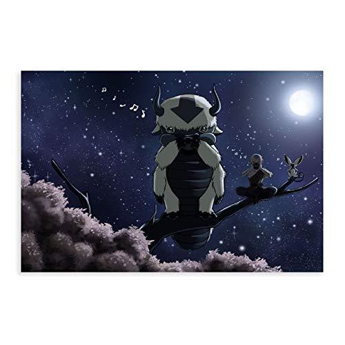 Style1 Kunstdruck auf Leinwand, Motiv Avatar The Last Airbender, Appa Aang Momo