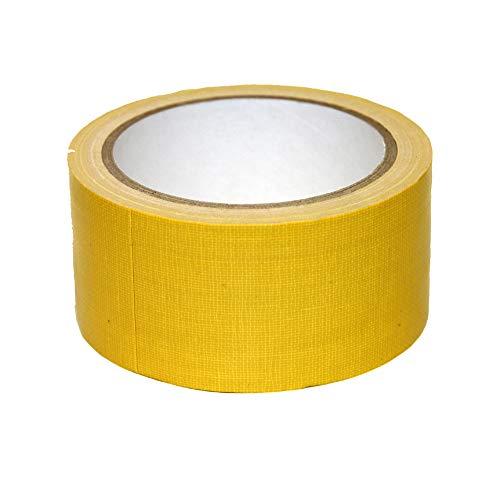 Bindulin 10 Meter Panzerband Farbe gelb Gewebeband Gafferband besonders fest, Bühnentechnik Haus Werkstatt Outdoor Klebeband 50mm x 10 Meter Yellow