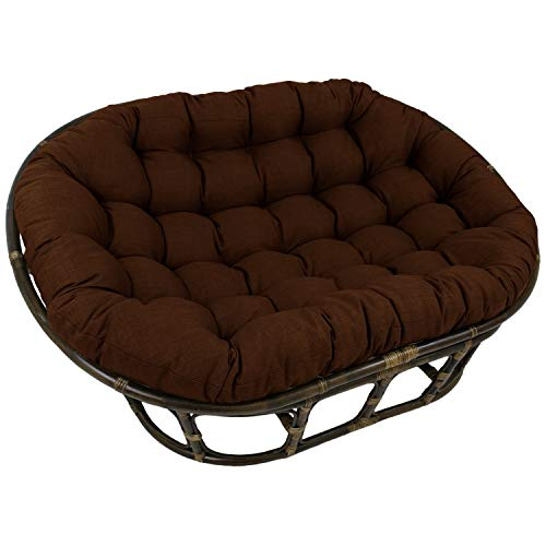 Blazing Needles 78-inch Indoor/Outdoor Double Papasan Cushion Cocoa