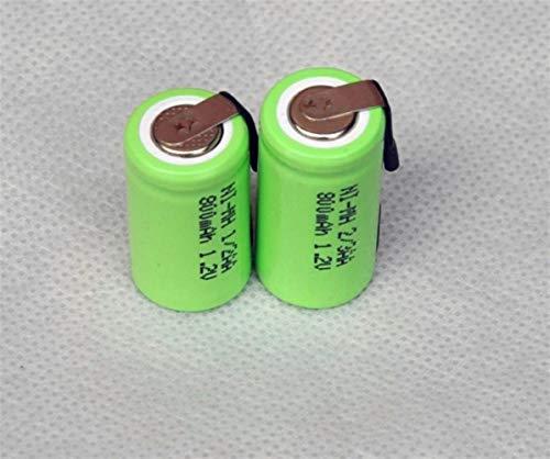 QianHaoQJu XW-Battery, Akku 800mAh 1/2 AA NiMH NiMH-Zelle mit Tab Stifte for elektrische Rasierer Schnurloses Telefon 2ST 1,2V 1 / 2AA