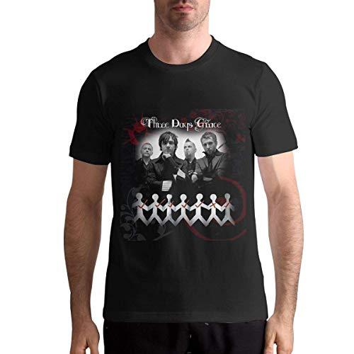GFHDG Three Days Grace Funny T Shirt for Men Black Short Sleeve Top Tees