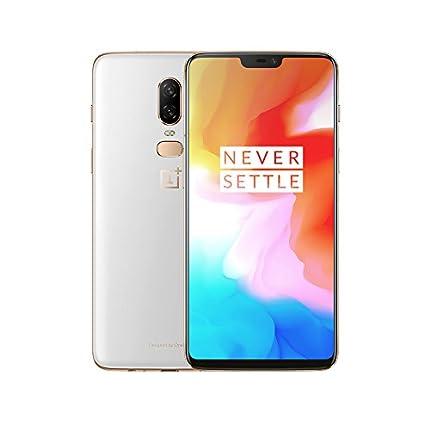 "OnePlus 6 Smartphone desbloqueado 4G , Pantalla 6,28 "" - 8 Go RAM - 128 Go stockage - Double SIM - Android) Silk White - Auriculares no incluidos"