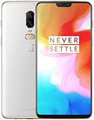 "OnePlus 6 - Smartphone de 6.22"" (full optic AMOLED, procesador Snapdragon 845, memoria de 8 GB RAM y 128 GB ROM), Blanco (Silk White)"