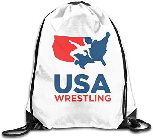 engzhoushi Turnbeutel,Sporttaschen,Schultasche Drawstring Gym Bags Backpack Pull String Bags USA Wrestling