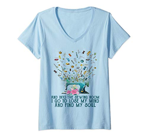 Womens Quilting Quilter Sewer Sewing T-Shirt V-Neck T-Shirt
