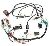 Bobina de encendido Suuonee, CDI Bujía de encendido Racing Bobina de encendido Conjunto de cableado Kit de cableado ATV Arranque eléctrico QUAD 50 70 90 110CC