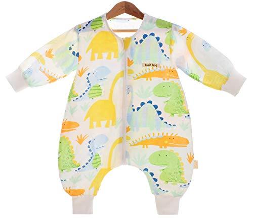Chilsuessy Baby Sommer Schlafsack mit Fuesse Junge Maedchen Schlafsack mit Beinen neugeboren Kinder Schlafanzug Overall Strampler Pyjamas, Dino Baby, 60/Baby Hoehe 65-75cm