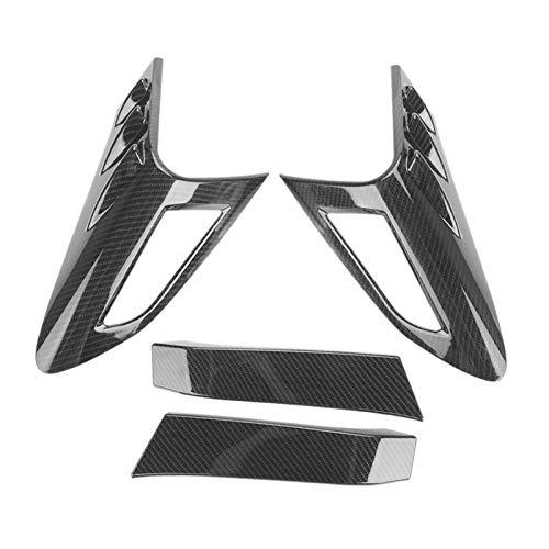 GOODNESS XYXYMY 4 piezas de fibra de carbono estilo trasero lámpara trasera luz cubierta ajuste ajuste para Toyota CHR C-HR 2016-2018 (color de carbono)