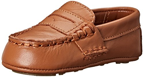 Ralph Lauren Layette Telly Loafer (Infant/Toddler), Tan, 4 M US Toddler