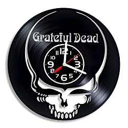 Grateful Dead music art vinyl wall clock, Grateful Dead design gift for any occasion