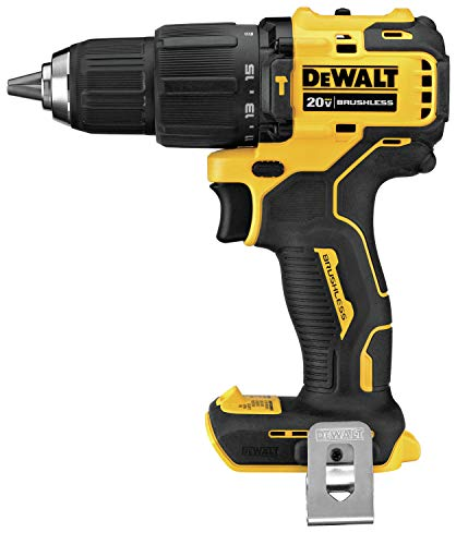 DEWALT ATOMIC 20V MAX Hammer Drill, Cordless, Compact, 1/2-Inch, Tool Only (DCD709B)