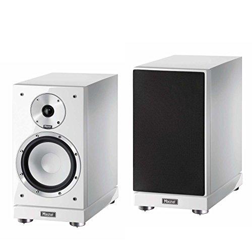 Magnat Quantum 753 | 1 Paar 2 Wege-Regallautsprecher mit hochwertigem HiFi-Sound | HiFi-Klang auf kleinstem Raum und im edlen Design – Weiß piano/seidenmatt
