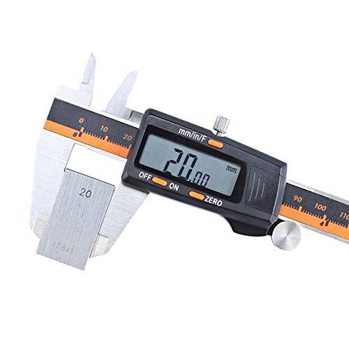 BEVANNJJ ZYY 6 Pulgadas calibradores Digitales de 150 mm de Acero Inoxidable electrónica Digital Vernier de D2TD (Color : 7HH1501619 O)