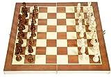 Barir Internacional de Ajedrez, 34 * 34cm Que doblan al Tablero Piezas de ajedrez de Madera Colección Internacional de Ajedrez Piezas de Juego Set Staunton Style portátil Juego de Mesa al Aire Libre
