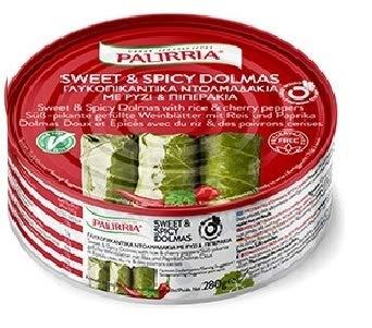Palirria Stuffed Vine Leaves Sweet & Spicy Dolmas Pack of 1