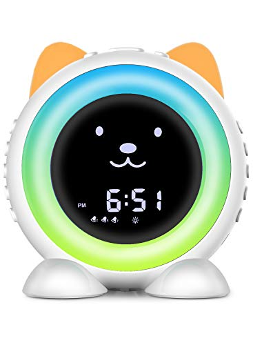 Time-to-Wake Alarm Clock, Children's Sleep Trainer ,Kids Seep Soother with 17 Ambient Sounds ,Night Light & Auto-Off Timer