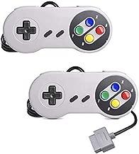 2-Pack Classic SNES Controller Replacement Gamepad for Original Super Nintendo Entertainment System Console