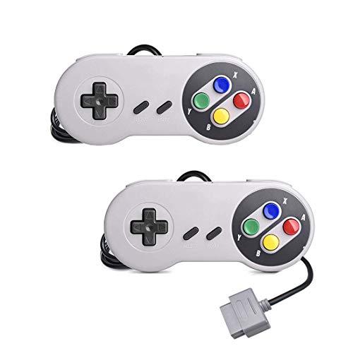 2er-Pack Classic SNES Controller Ersatz Gamepad für Original Super Nintendo Entertainment System Console