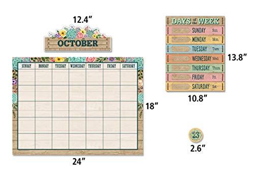 Rustic Bloom Calendar Bulletin Board Set Photo #2