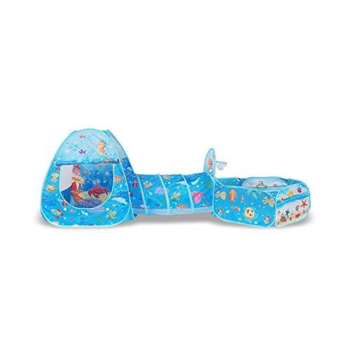 ZXQC Baby Playpen, Regalo Infantil 3 En 1 Pool Pool Pool Pool Pool, para Niños En Interiores Y Al Aire Libre, Juguetes para Niños (Color : Ocean)
