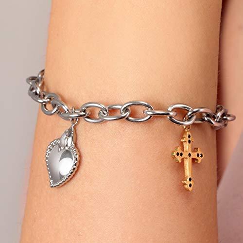 Morellato Bracciale da donna, Collezione Devotion, in acciaio, cristalli - SARJ04